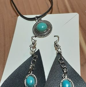 Tear drop earrings and necklaces